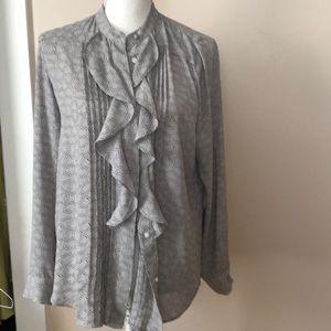 Ann Taylor ruffled blouse
